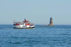 Whaleback Lighthouse, Kittery, ME, USA stock images