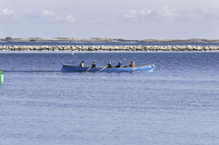 Whaleboat practice Plymouth harbor Royalty Free Stock Images