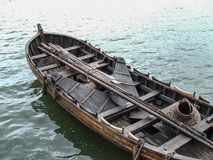 Whaleboat replica. A replica from the Mayflower II ship Stock Image