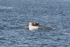 Whaleboatbesättning under utbildning Royaltyfria Bilder