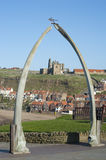 Whalebone arch in Whitby, North Yorkshire Royalty Free Stock Photography