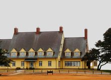 Whalehead Duck Hunting Club. Built as a private hunting lodge in 1922, the Whalehead club in the Outer Banks of North Carolina is still celebrated and in use Stock Photos