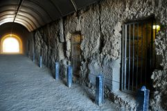 The Whaler`s Tunnel of Round House Prison at Fremantle port city in Perth, Australia. The Whaler`s Tunnel of Round House Prison was the first permanent building stock images