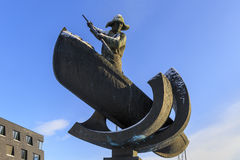 Whaler-statue Arctic Hunter. Tromso, Troms county, Norway Stock Photography