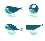 Whales icons. Royalty Free Stock Image