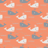 Whales seamless pattern Stock Photography