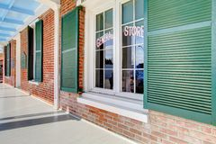 Whaley house museum exterior porch in San Diego. Royalty Free Stock Photography