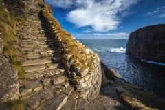 Whaligoe-Schritte, Hochländer von Schottland stockbild
