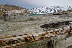 Whaling Boat, Deception Island, Antarctica Stock Photography