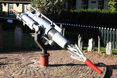 Whaling-gun from the Willem Barendsz, Hollum, Ameland Stock Image