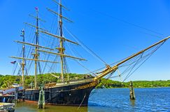 Whaling ship Charles W. Morgan royalty free stock photos