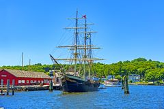 Whaling ship Charles W. Morgan royalty free stock photo