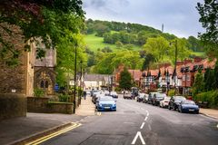 Whalley Clitheroe Lancashire UK. Clitheroe is a town and civil parish in the Borough of Ribble Valley, in Lancashire, England royalty free stock photo
