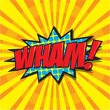 WHAM! κωμική λέξη Στοκ εικόνα με δικαίωμα ελεύθερης χρήσης