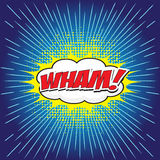 WHAM! κωμική λέξη απεικόνιση αποθεμάτων