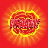 WHAM! κωμική λέξη Στοκ φωτογραφία με δικαίωμα ελεύθερης χρήσης