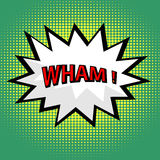 Wham! comic cloud Royalty Free Stock Image