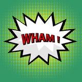 Wham! comic cloud Royalty Free Stock Image