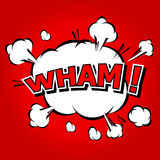 Wham! - Comic Speech Bubble, Cartoon. Stock Photography