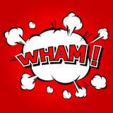 Wham! - Comic Speech Bubble, Cartoon. Stock Photography