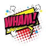Wham! Comic Speech Bubble. Vector Eps 10. Stock Image