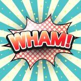 Wham, Grappige Toespraakbel Vector Royalty-vrije Stock Afbeeldingen