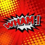 Wham! - Komische Sprache-Blase, Karikatur Stockbild