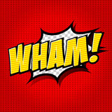 Wham! - Komisk anförandebubbla, tecknad film Royaltyfria Foton