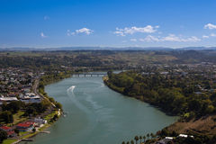 Whanganui River. Flows through the city Royalty Free Stock Photography