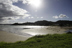 Whangarei Heads beach. Whangarei Heads is a locality and promontory on the northern side of the Whangarei Harbour in Northland, New Zealand Stock Photos