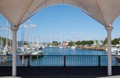 Whangarei marina i Obrazy Royalty Free