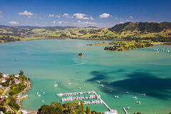 Whangaroa港口北岛,新西兰 图库摄影