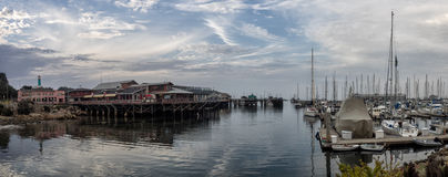 Whar del pescador de Monterey, California Imágenes de archivo libres de regalías