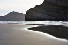 Wharariki Beach, New Zealand Royalty Free Stock Photo