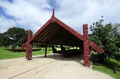 Whare Waka (casa della canoa) immagine stock
