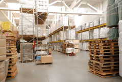 Wharehouse with pallet Royalty Free Stock Photography