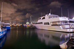 The wharf. In the night ,Melbourne, Australia Royalty Free Stock Photos