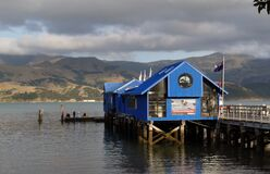 The wharf Akaroa.NZ. Royalty Free Stock Images
