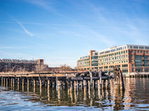 The Wharf along the Coast stock photography