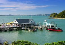 Wharf at Bay of Islands Royalty Free Stock Photo