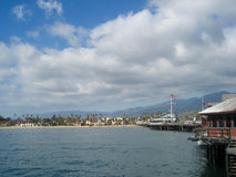 Wharf and beach at Santa Barbara Stock Photography