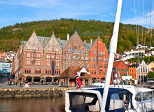 The wharf in Bergen Stock Image