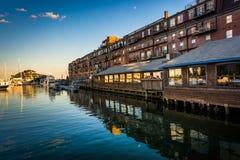A wharf in Boston, Massachusetts. Stock Photography
