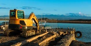 Wharf Construction Stock Photo