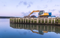Wharf Construction Stock Image