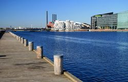 Wharf in copenhagen. Wharf in a modern district of copenhagen Royalty Free Stock Photography
