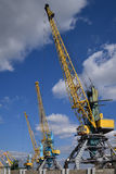 Wharf crane Royalty Free Stock Photography