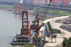 Wharf crane Royalty Free Stock Images