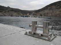 Wharf. Dock in Balaklava bay, Ukraine Royalty Free Stock Image