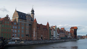 Wharf  in Gdansk Royalty Free Stock Photography